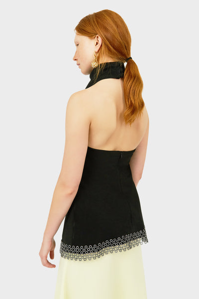 LIMOGIE HALTER NECK TOP W DIAMONTE