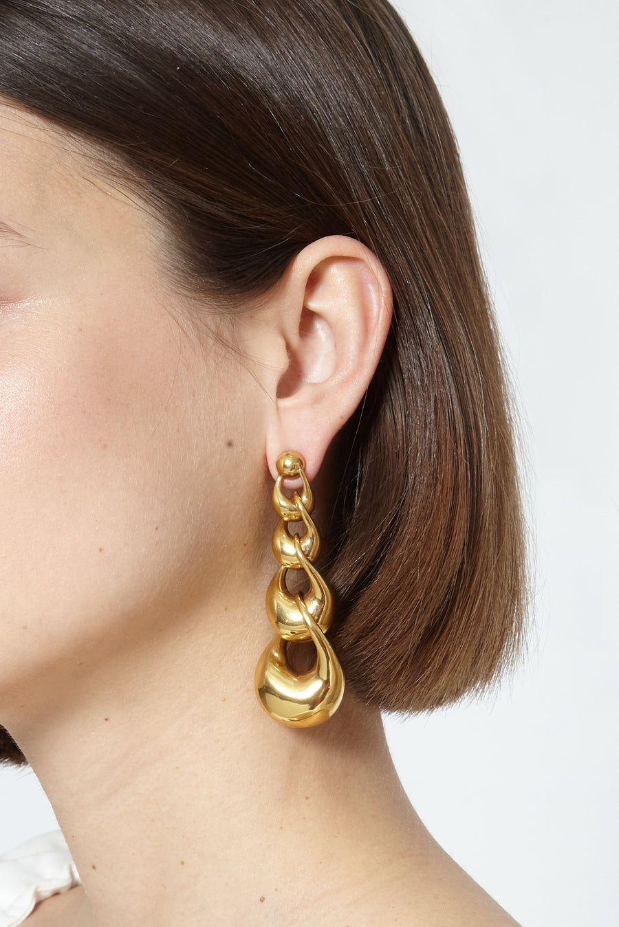 Athenes M degrade chain earrings