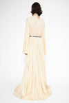 De voluptate pleated gown
