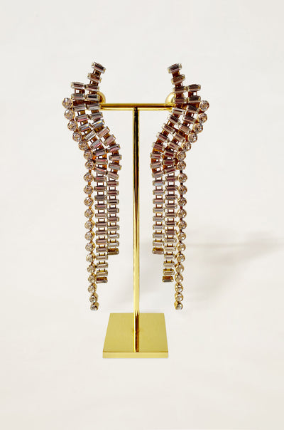 Chariot Drape Crystal Earrings