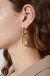 Horoscope With Diamante Earrings