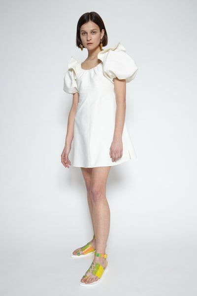 Lucretus bubble sleeves dress