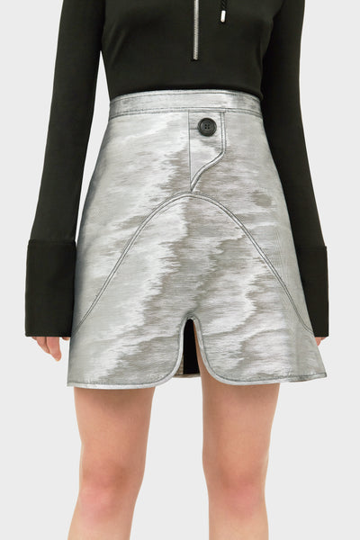 MILKY WAY CURVED MINI SKIRT