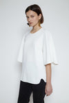 White Mystic Force flap sleeve top
