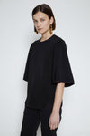 Black Mystic Force flap sleeve top