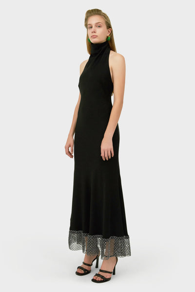 FORMALISM HALTER NECK DRESS BLACK