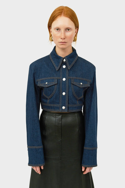 SHEVALL DENIM PANELLED JACKET