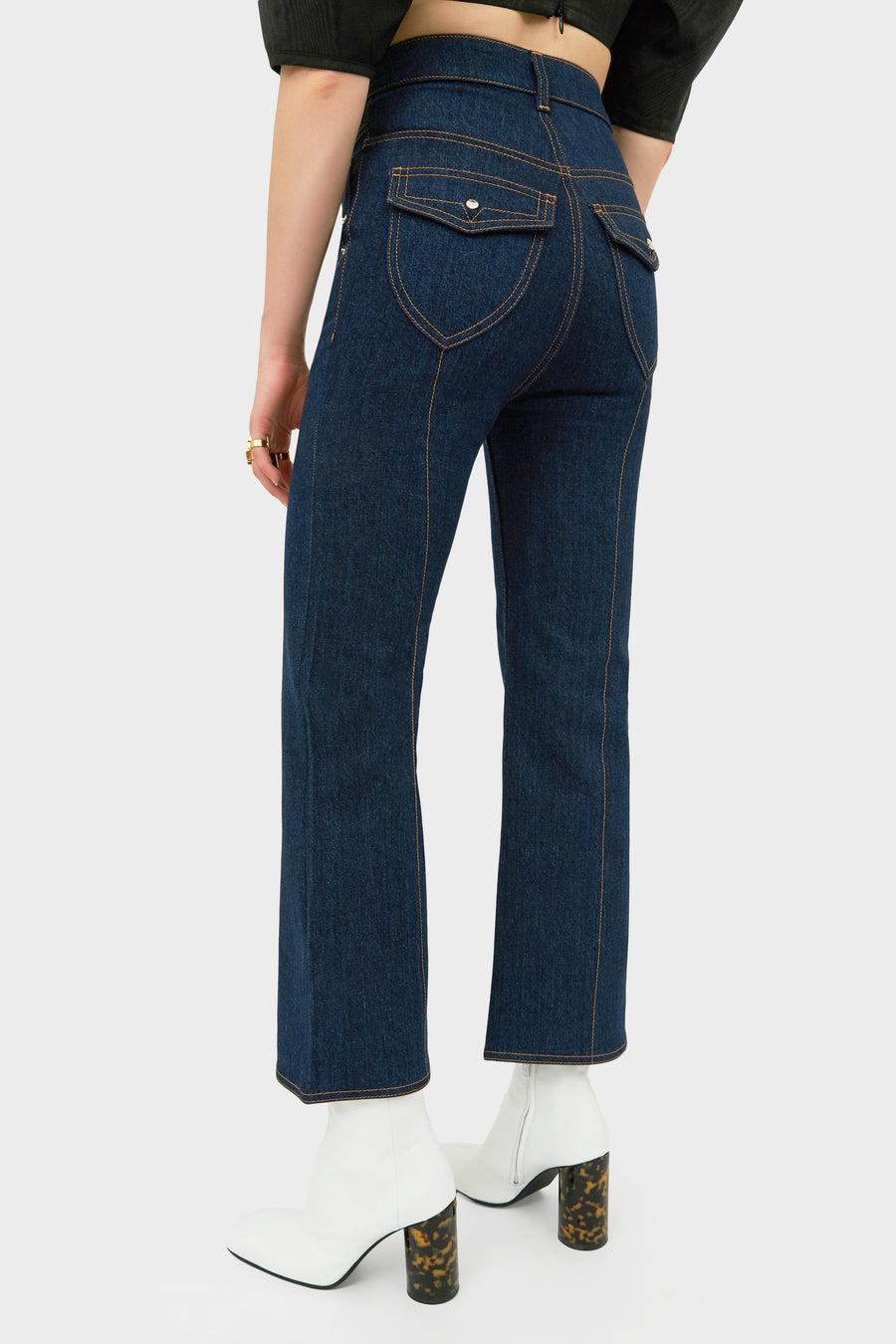 EUREKA DENIM PANELLED PANTS INDIGO