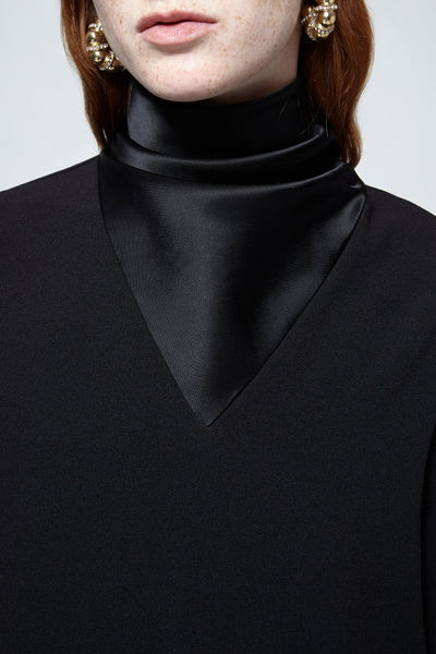 Hopper Cowl V Neck Top