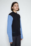 Stoic jersey top with shirt sleeves