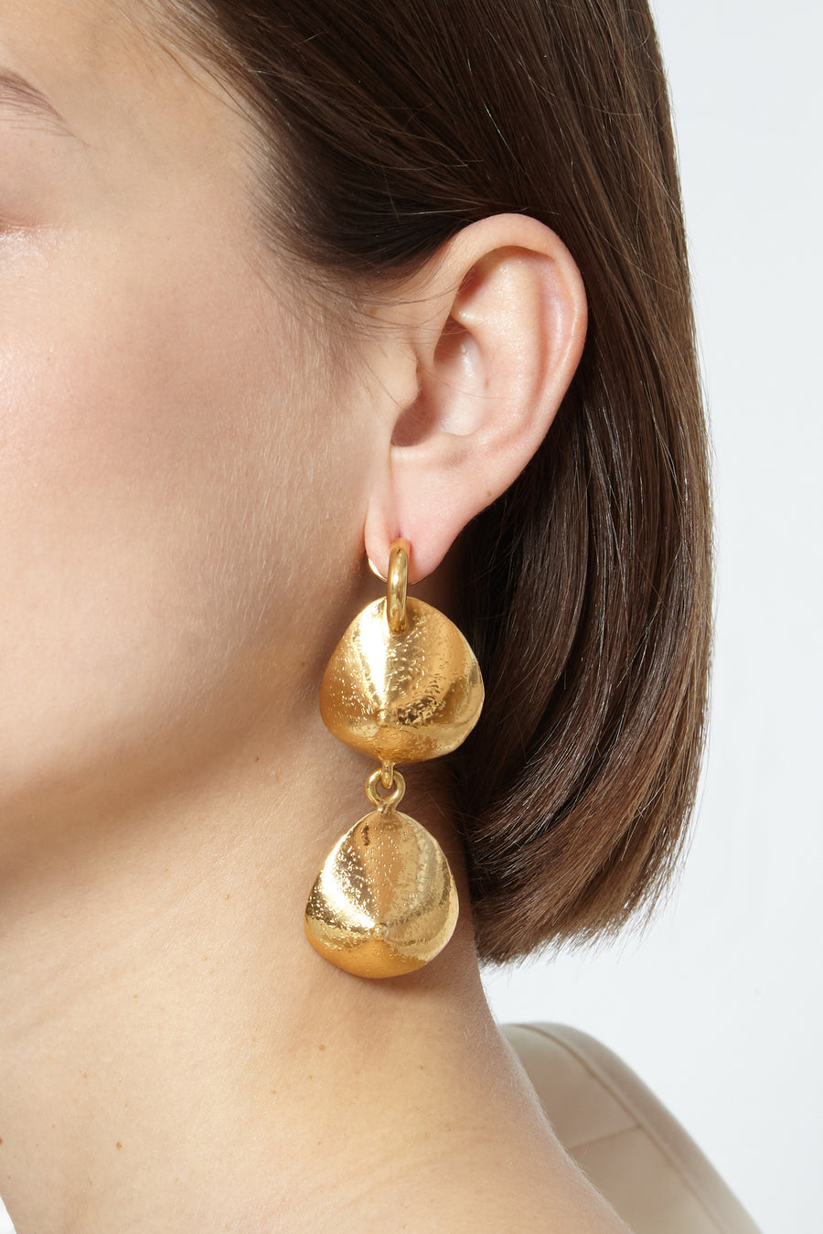 Vertuous double breast earrings