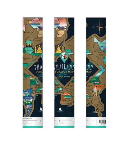 Thailand Scratch Map Packaging iMartCity 泰國刮刮地圖