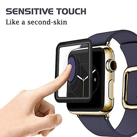 Apple watch serie 4 40mm 44mm screen protector anti scratch anti fingerpritn tempered glass screen protector film GadgetiCloud iWatch Protector protective cover with Black Edges Anti Scratch tempered glass protective films apple watch accessories discount combo