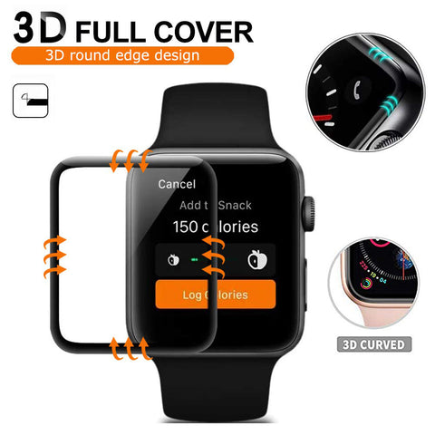 Apple watch serie 4 40mm 44mm screen protector anti scratch anti fingerpritn tempered glass screen protector film iMartCity 3d full coverage