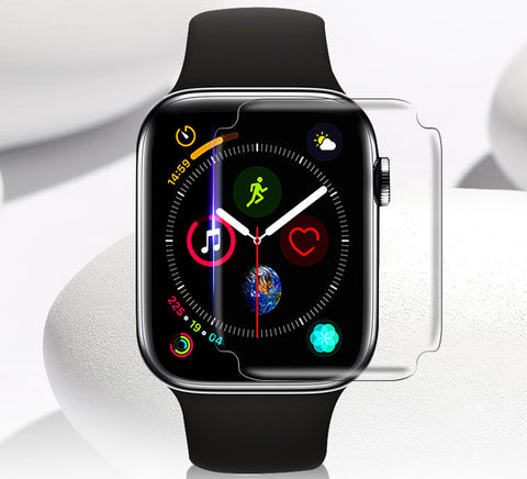 GadgetiCloud Apple Watch Screen Protector Transparent Glass Screen Film 38mm/42mm/40mm/44mm (Series 1,2,3,4) Apple Watch 3D Glass protective cover with iWatch Anti Scratch High Quality 9h tempered glass protective Films HD and Thin scatchproof Anti-Glare Anti-scrtach GadgetiCloud Apple Watch Accessories 蘋果手錶保護貼 iWatch保護貼 iWatch玻璃貼 apple watch series 4保護貼 保護殼 抗刮 屏幕保護貼 強化玻璃貼