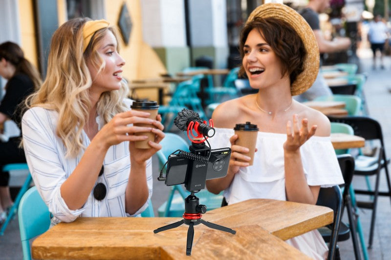 iMartCity BOYA BY-MM1 PRO Dual-Capsule Condenser Microphone with anti-shock mount applications interviews