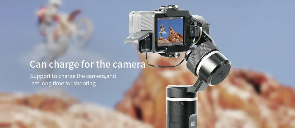FeiyuTech G6 Handheld Gimbal for GoPro 8/7/6/5/ RX0(Required RX0 Mount)Yi 4K/SJCAM/AEE/ Ricca Action Camera support for long time shooting
