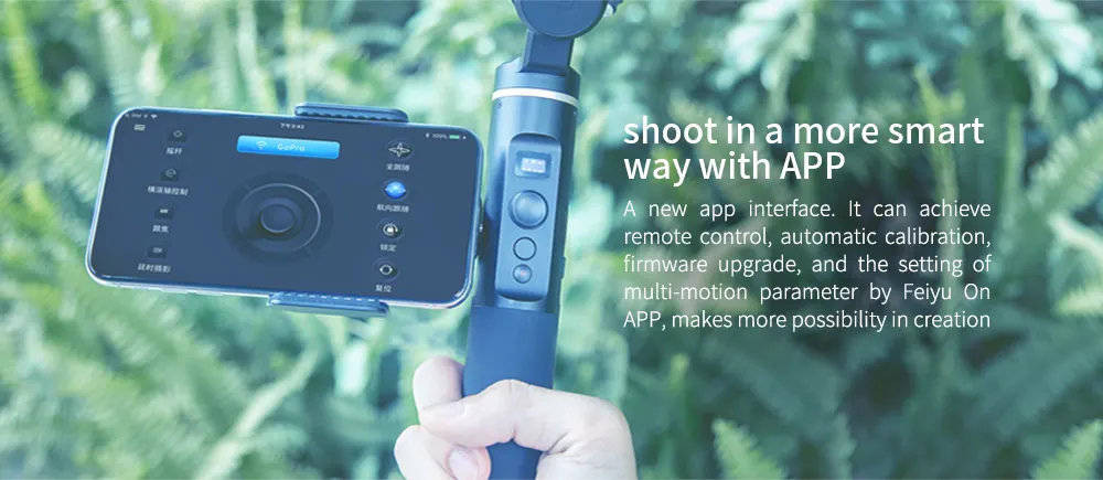 FeiyuTech G6 Handheld Gimbal for GoPro 8/7/6/5/ RX0(Required RX0 Mount)Yi 4K/SJCAM/AEE/ Ricca Action Camera use with app