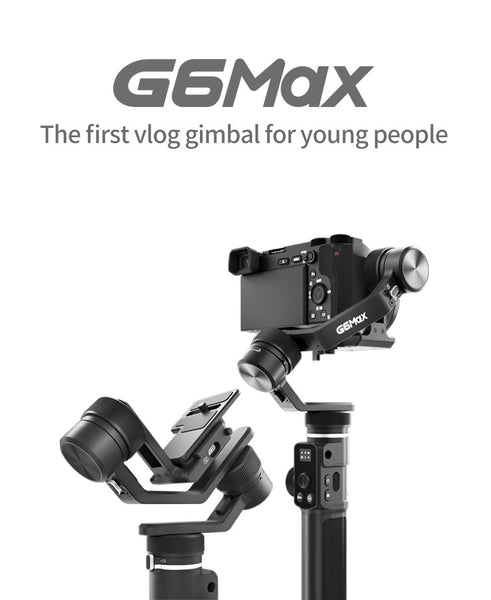 FeiyuTech G6 Max 3-Axis USB Wi-Fi Control Stabilized Handheld Gimbal for smartphone pocket camera action camera mirrorless cameras power supply long battery life reverse charging first vlog gimbal for young people