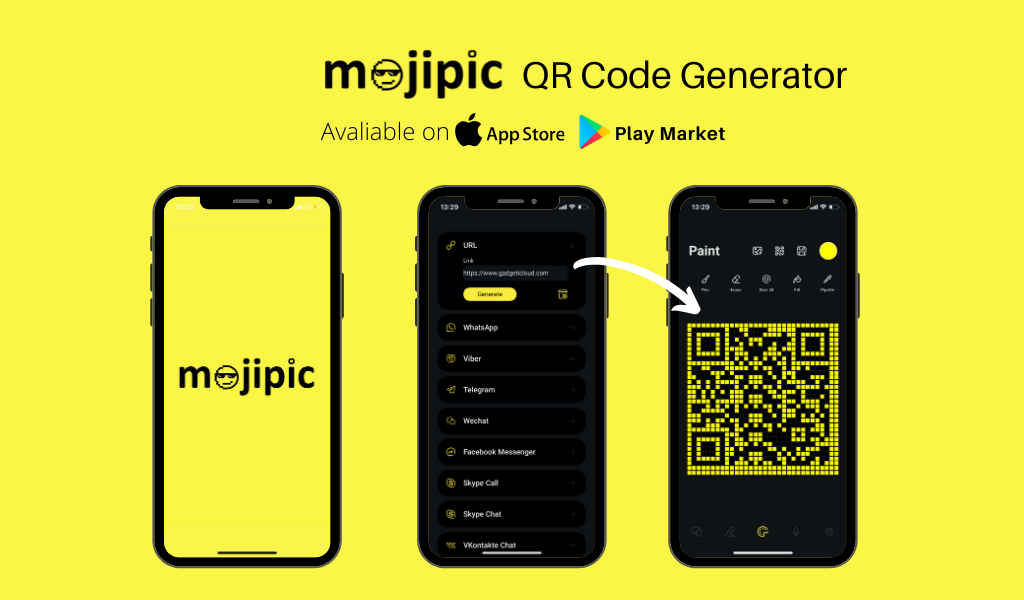 Mojipic led car display auto qr code generator
