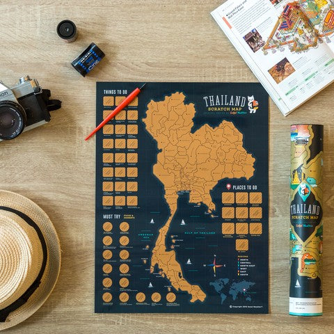 World, Japan, Korea and Thailand) Scratch Off Traveling World Map 刮刮地圖 刮刮樂 世界地圖 Colorful map poster Travel around the World Best interesting gift by Good Weather