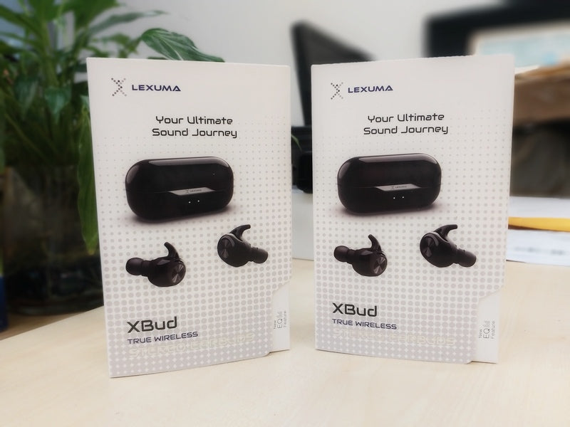 GadgetiCloud Lexuma wireless bluetooth earbuds earphones headphones charging case packaging 辣數碼 無線藍牙耳機