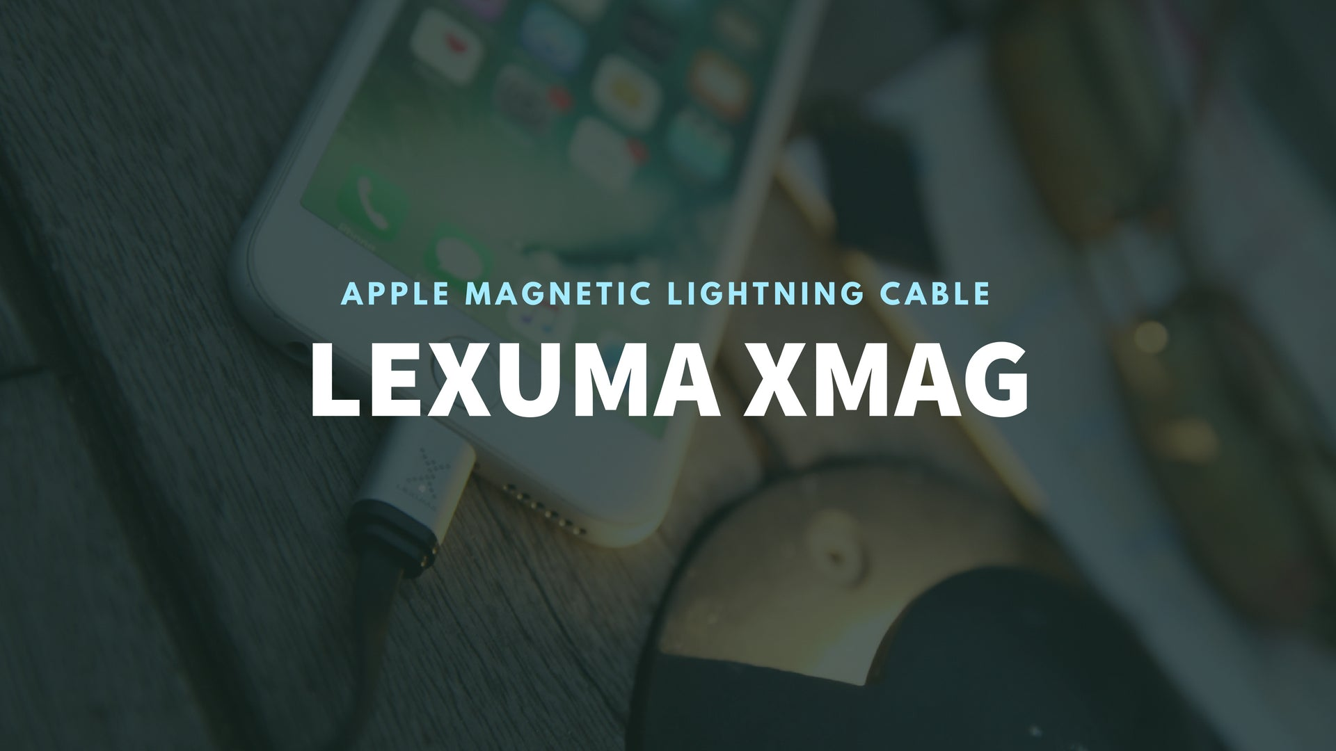 GadgetiCloud Lexuma 辣數碼 XMag Magnetic Charging Cable Lightning cable