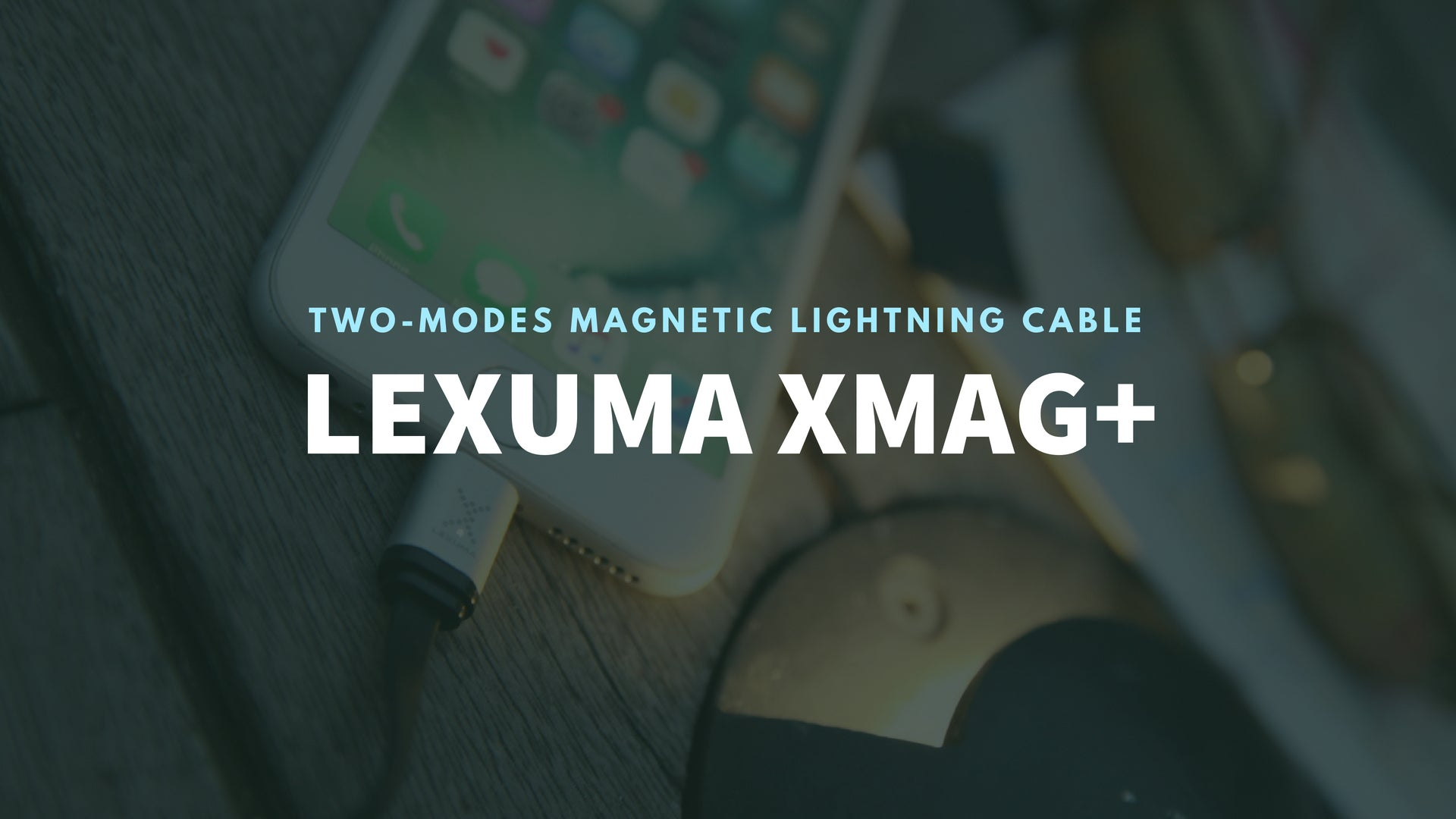 Lexuma iPhone充電線 XMag XMAG-LC-Plus Fast Charging Magnetic micro usb Lightning Cable for iPhone iOS Dual Charging Modes with adapter tip mobile accessories banner 磁吸充電線 - GadgetiCloud
