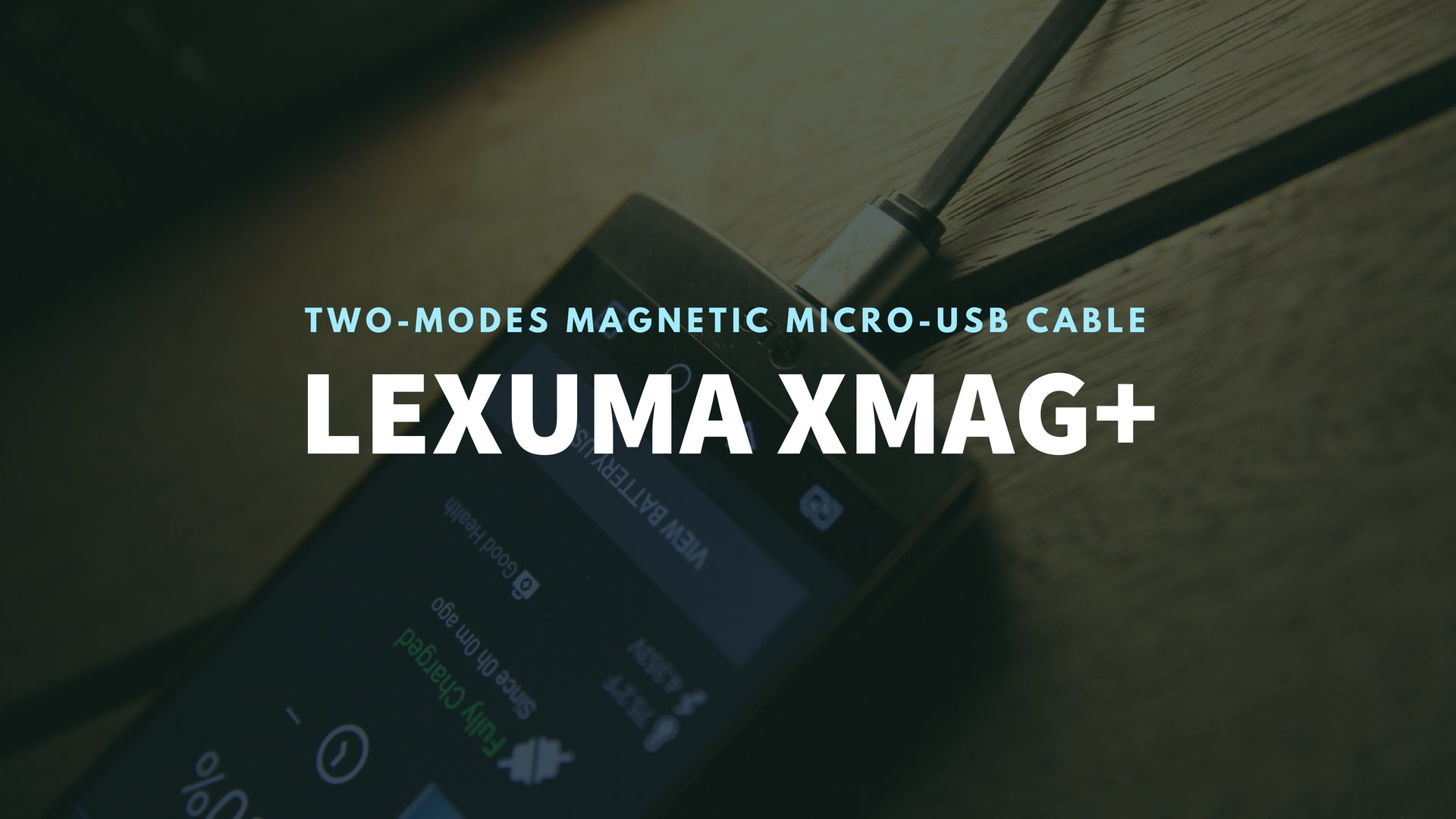 GadgetiCloud Lexuma 辣數碼 XMag Magnetic Charging Cable micro-usb cable for Android