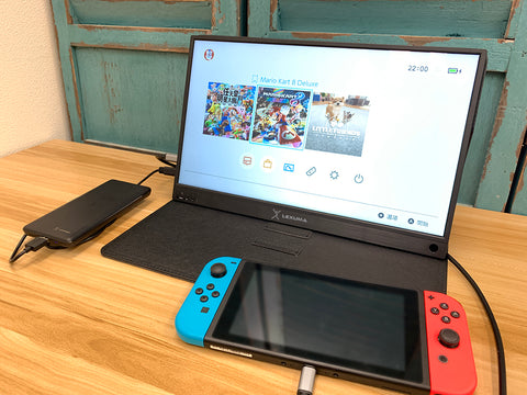 GadgetiCloud Lexuma XScreen portable monitor 1080 full HD blog post best gaming gadget for PS4 Switch Xbox One Type-c connection