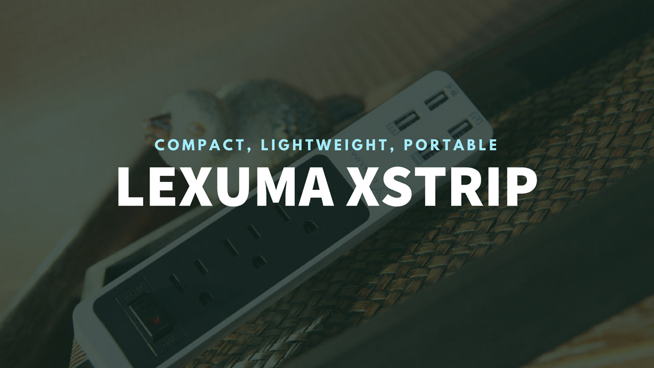 Lexuma XStrip XPS-SB1340 3 Gang US 15A Socket Mini USB Power Strip with 4 USB 5V 6A Ports Overload Surge Protector Protected Standard 3-Outlets All-in-one Wholesale Certificated 3 Electric US plugs Plus Fast Charging Station Multi-Outlets White AC Plugs and Extension Cord Travel Size Power Strip GadgetiCloud 辣數碼 美規拖板 美規排插 插座 USB拖板 3頭美規拖板 迷你拖板 旅行拖板 banner