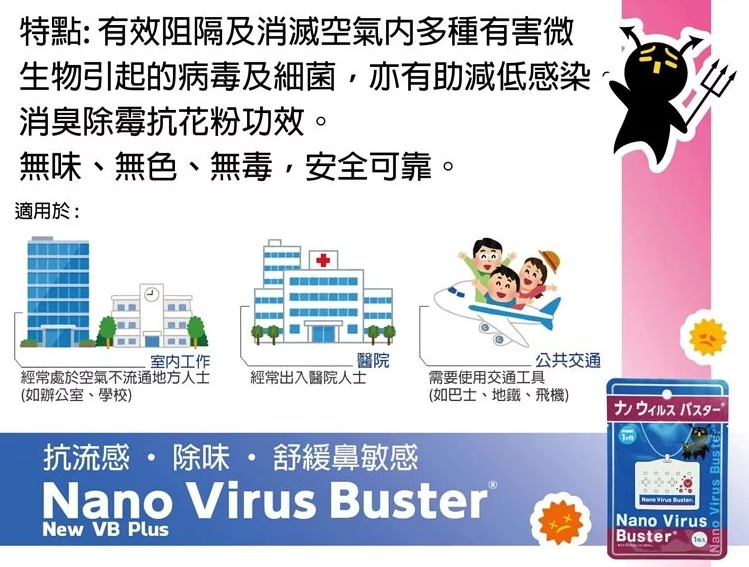 GadgetiCloud-Nano-Virus-Buster-抗菌-抗流感-防鼻敏感-口罩-武漢-肺炎-病毒-日本-製-30日-1米