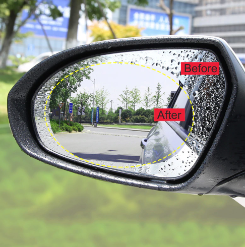 Protective rear view mirror hydrophobic protective film - iMartCity before and after
