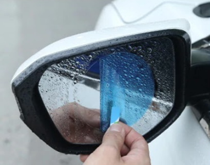 Protective rear view mirror film - GadgetiCloud hydrophobic film