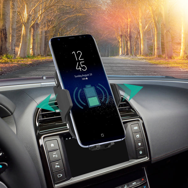 Lexuma - Automatic Wireless Charging Car Mount infrared sensing technology automatic clamps