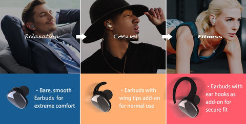 GadgetiCloud Lexuma XBud Series TWS True Wireless Bluetooth In-ear Earbuds Earphones Headphones How to choose the Best Earbuds ear hooks adjustable