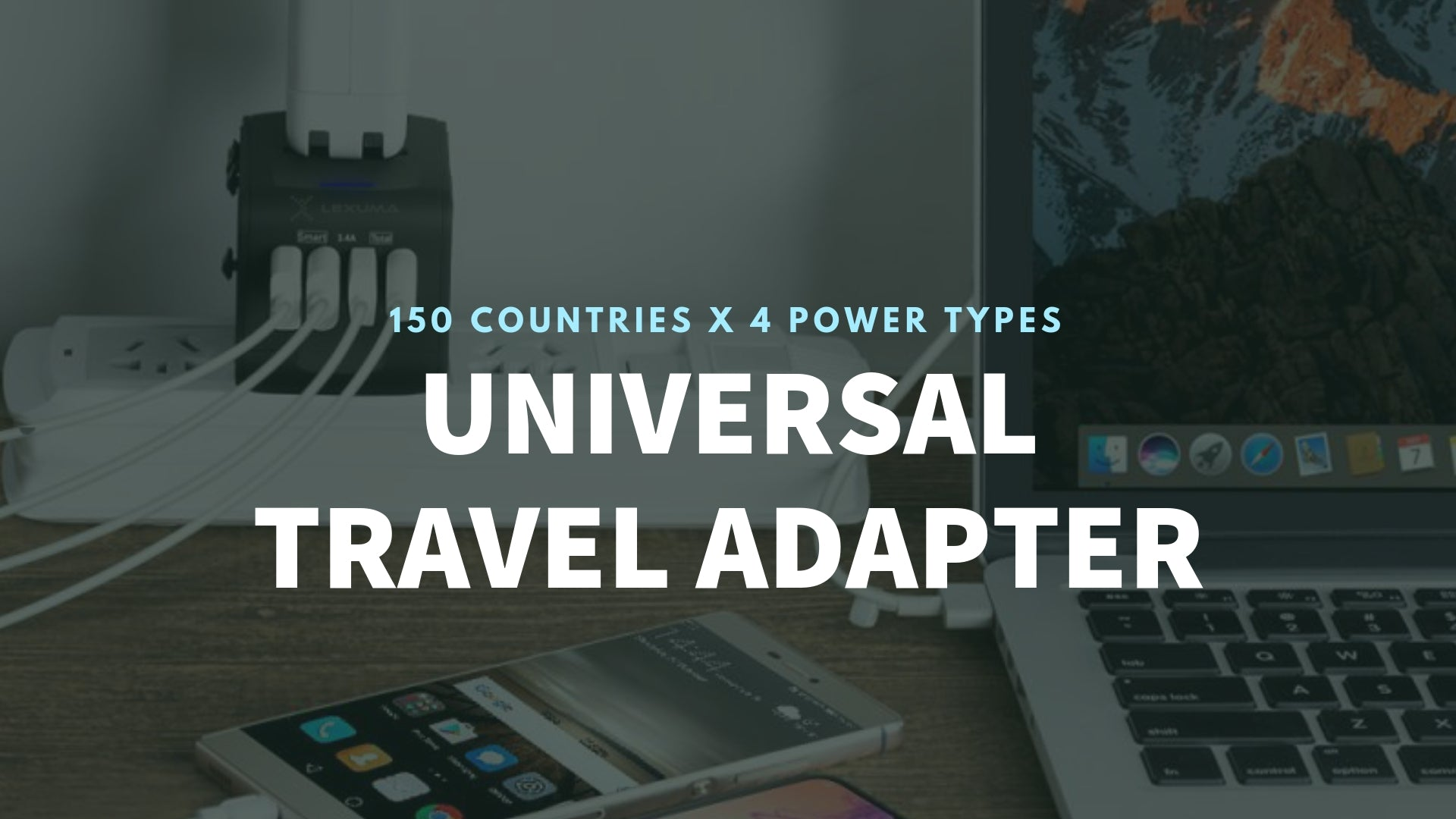Universal Travel Adapter UTA-1440 All in One Worldwide Charger for US EU UK AUS with 4 USB Port epicka verbatim european outlet momax insignia global kit bez hyleton worldwide targus APK032us eagle creek foval power step down voltage power converter target banner - iMartCity