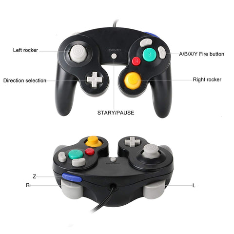 GameCube Controller for Nintendo Wii and GameCube (2 Packs) GameCube Controller roms adapter adapter switch switch adapter adapter for pc symphonic green controller smash 4 controller oem controller super smash bros edition wario controller - GadgetiCloud