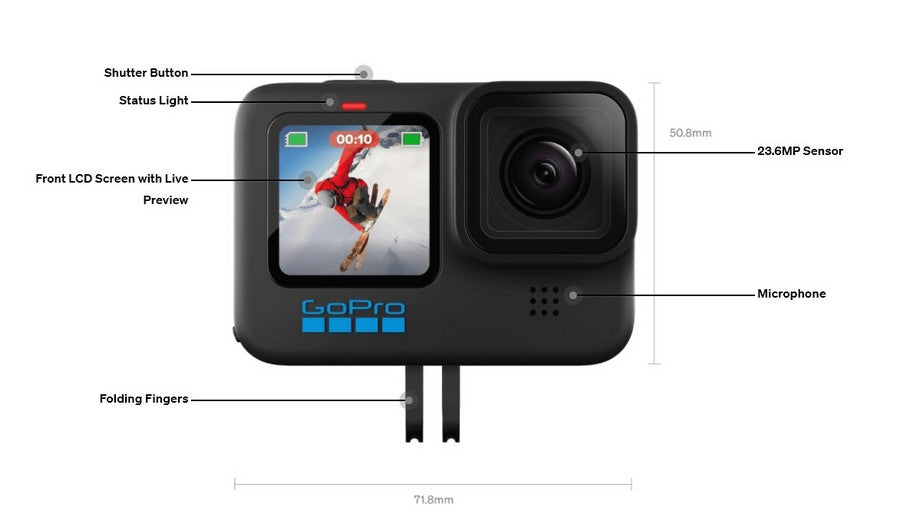 GoPro-HERO10-Black-Waterproof-Action-Camera-with-Front-LCD-and-Touch-Rear-Screens-details-front-function