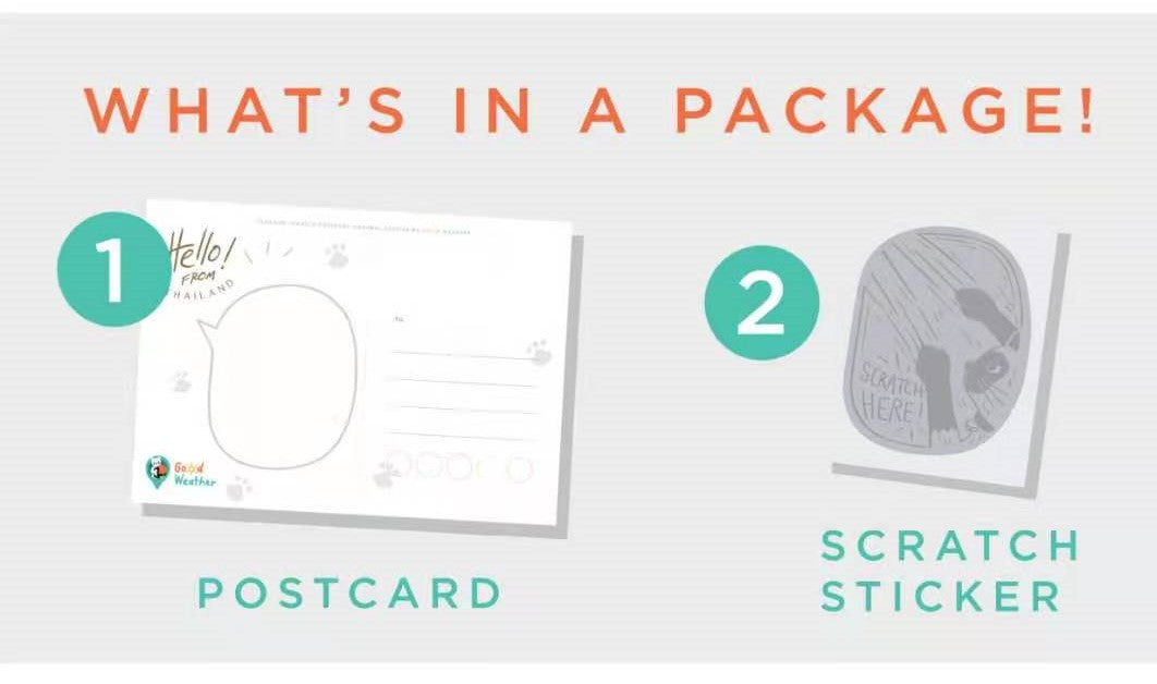 GoodWeather-Scratch-Postcard-GC-package-with-postcard-and-scratch-film-sticker
