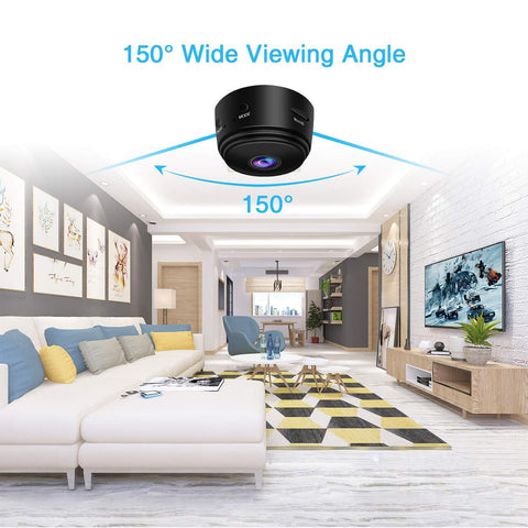 SEC-C120 Mini 1080P FHD Wireless Night Vision Home Security Camera with 150° Wide-Angle Lens wifi connection for mobile phone hidden outdoor invisible Smart HD IP cam ime2s remote cheap surveillance cameras for home nanny Tiny Covert Cam small axis f1004 cookycam 360 ip camera ismartview ARW-BAT CCTV 網絡監控攝影機 - iMartCity Camera with 150° Wide-Angle Lens - iMartCity wide viewing angle for home office