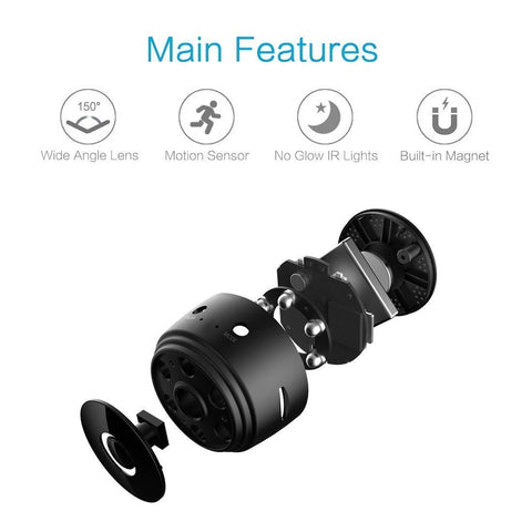 Lexuma 辣數碼 XCAM SEC-C120 Mini 1080P Wireless Night Vision Home Security Camera with 150° Wide-Angle Lens wifi connection for mobile phone hidden outdoor invisible Smart HD IP cam ime2s remote cheap surveillance cameras for home nanny Tiny Covert Cam small axis f1004 cookycam 360 ip camera main features review
