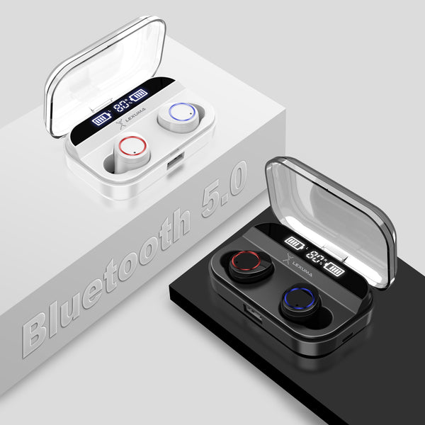 Lexuma XBud-Z True wireless Earbuds with black and white color