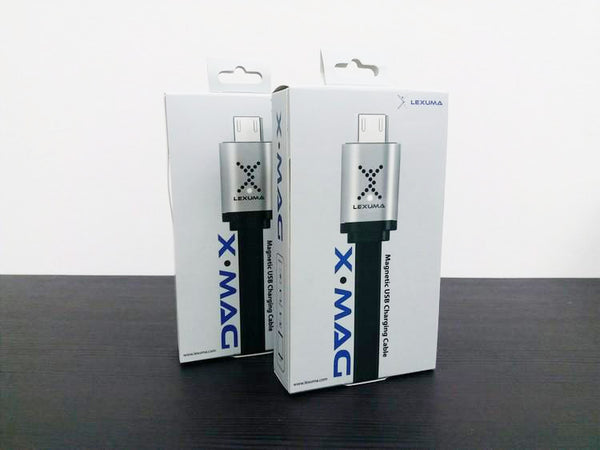 GadgetiCloud Lexuma 辣數碼 XMag Magnetic Charging Cable lightning micro-usb cable package content