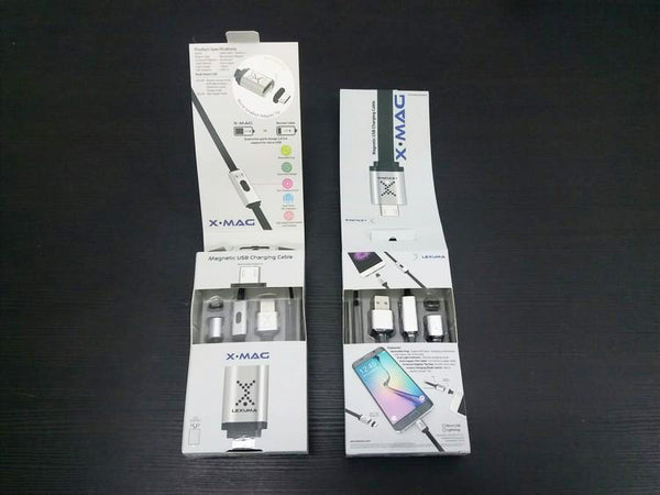 GadgetiCloud Lexuma 辣數碼 XMag Magnetic Charging Cable lightning micro-usb cable open the package
