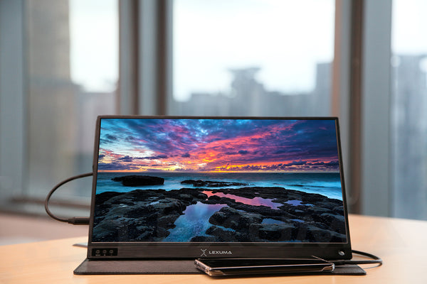 GadgetiCloud Lexuma XScreen Portable Monitor Screen Benefits blog connect with phone horizontal