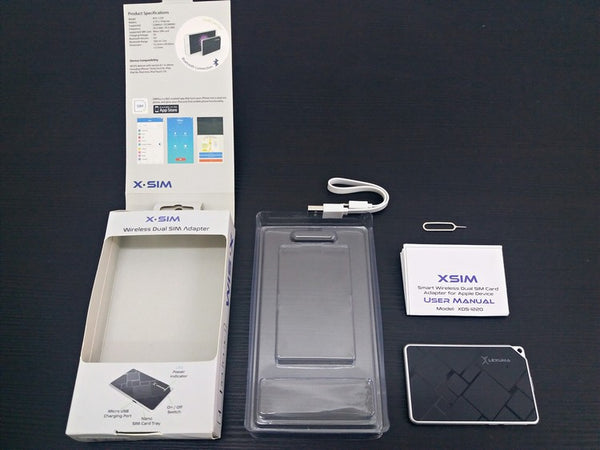 Unbox Lexuma XSim Dual SIM Card Adapter For Apple Devices XDS1220