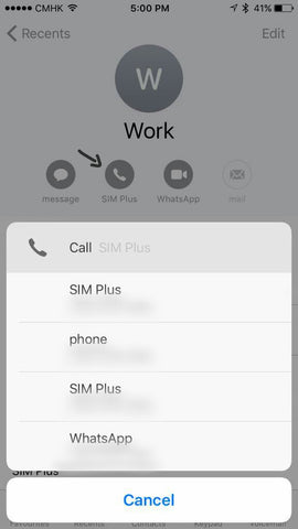 How to make a phone call on XSim