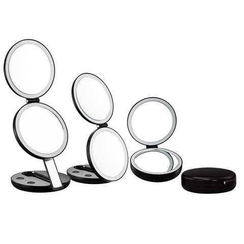 LED Lighted Beauty Makeup Mirrors COMBO