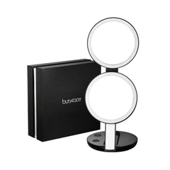 LED lighted travel makeup mirror with 7x magnification at  gadgeticloud butyface beauty mirror